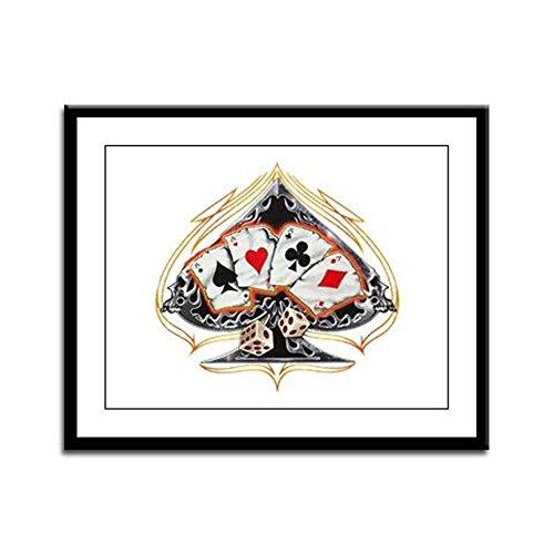 - Framed Panel Print Four of a Kind Poker Spade