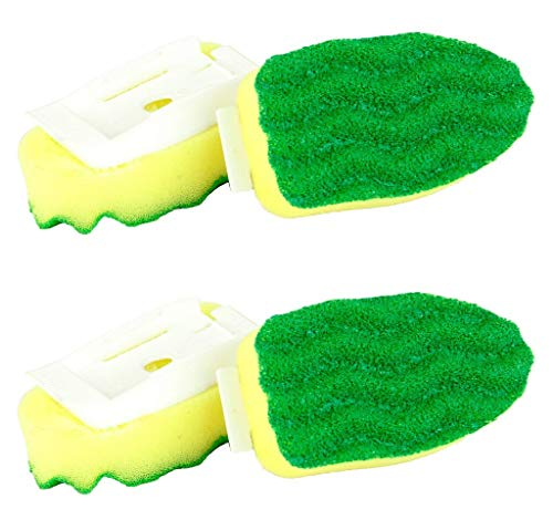 Cleaning Sponge Refill pads Non-Scratch Libman All-Purpose Two (2 Packs) Made in USA Scrubbing Dishwashing