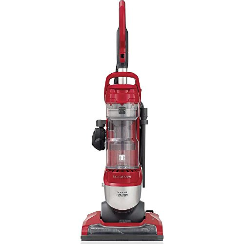 Kenmore Progressive Bagless Upright All Floors Vacuum Cleaner with Pet Handi Mate and Dual Brushed Edge Cleaning, Silver/Red (Filter Edge Cleaning Vacuum Cleaners)