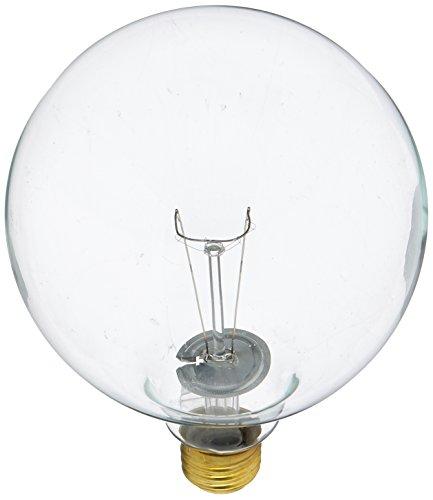 Bulbrite 150G40CL 150W G40 Globe 125V Medium Base Light Bulb, Clear