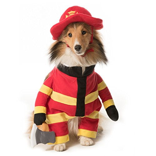 Thrills & Chills Stand-Up Firefighter Costume.~SMALL~ (Country Halloween Costumes)