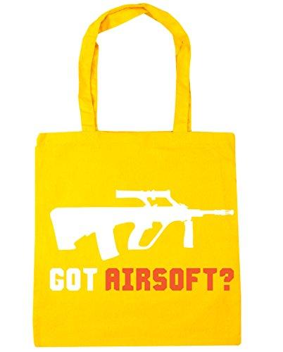 HippoWarehouse got Airsoft? Bolsa de la compra bolsa de playa 42cm x38cm, 10litros amarillo