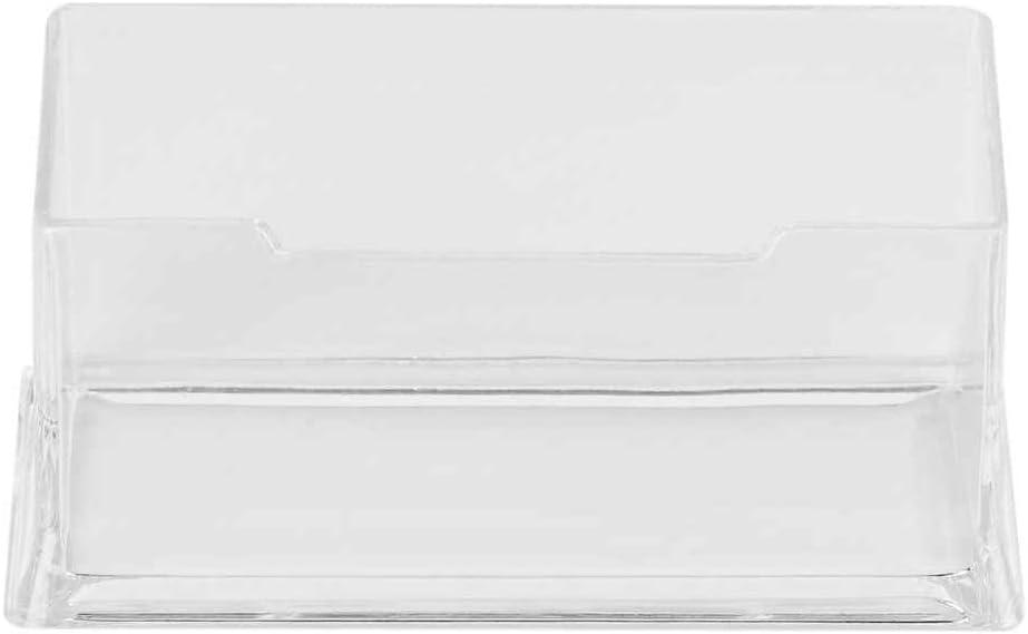 Qinghengyong Tarjeta de Visita Clara de Escritorio del Caja de Soporte de exhibici/ón Soporte de acr/ílico pl/ástico Escritorio Estante
