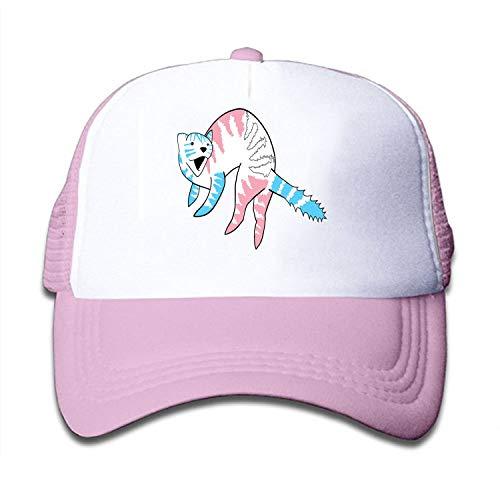 Trans Pride Ferret Baseball Cap Adjustable Trucker Hat for Children