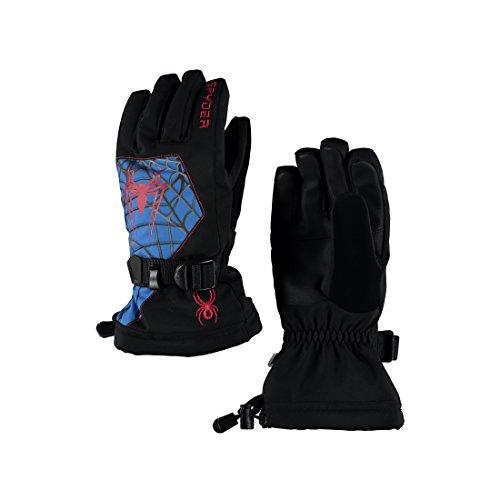 Spyder Boy's Marvel Overweb Ski Glove, Black/Ironman, (Best Spyder Ski Gloves)