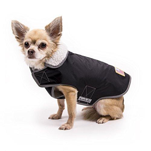 USA Winter Slicker | my canine kids | black | large - Fleece Mesh Parka