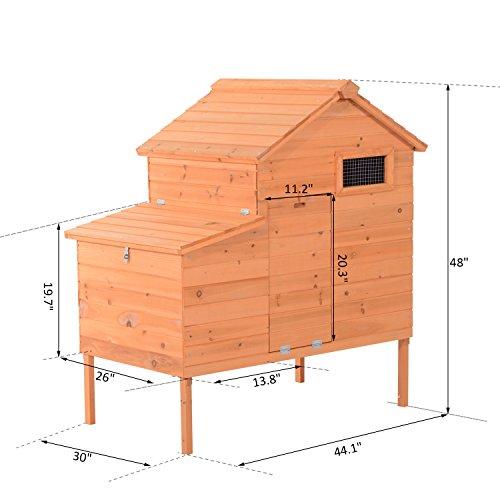 Pawhut Outdoor Raised Leg Hen House Chicken Coop by PawHut (Image #1)