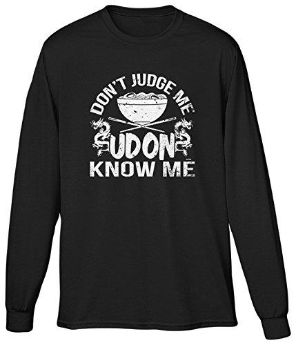 Blittzen Mens LS Dont Judge Me Udon Know Me, M, Black