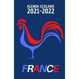 Agenda scolaire 2021 2022: Agenda équipe de France journalier pour collège et lycée   Organisateur scolaire football… 6