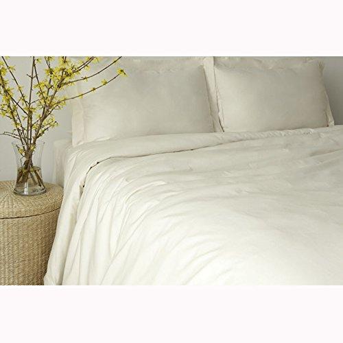 glo Organic US Made Sateen Flat Sheet, Twin, White