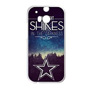"Canting_Good ""Stars Can't Shine Without Darkness"" Custom Case Shell Cover for HTC One M8 (Laser Technology)"