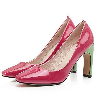 Zapatos de tacones de las mujeres Primavera Verano Otoño Invierno Comfort cuero sintético oficina y carrera Fiesta y vestido de noche de tacón grueso Otros Verde Rojo Otros Green