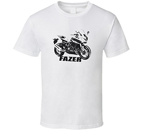CarGeekTees.com Fazer Motorcycle Side View with Model Light Color T (Fazer Motorcycle)