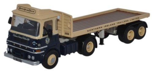 Oxford Diecast 76LV004 ERF LV Flatbed Trailer N Ireland Trailers