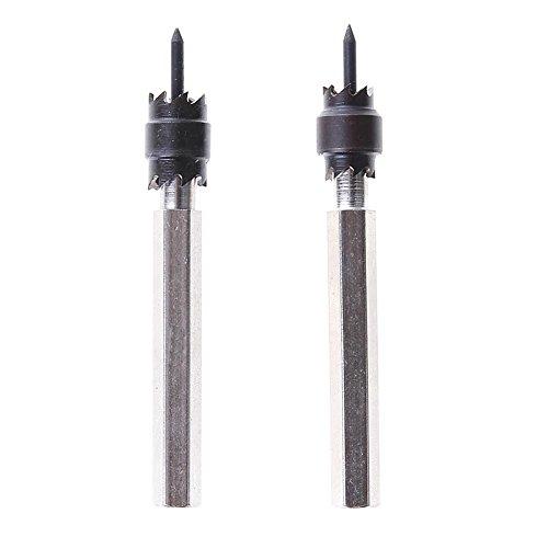 UEB 2pcs HSS Rotary Spot Weld Cutter Drill Bits Hex Shank Electric Tools ()