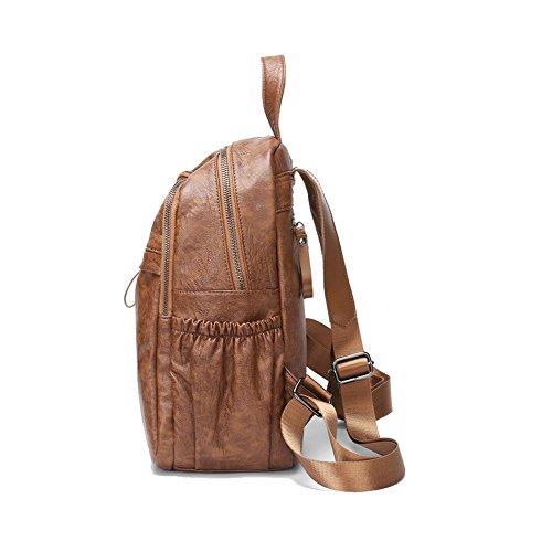 Shopping Simple Femme Sac Dos Capacité Ajlbt Mode Brown Tempérament Grande Coréenne Voyager Version À Pour qpUOcZTw