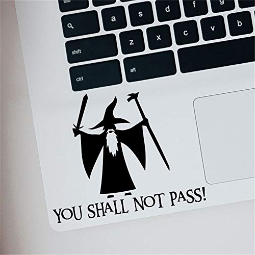 leecal Lettering Words Wall Mural DIY Removable Sticker Decoration Lord of The Rings You Shall Not Pass Laptop Car Quote for Laptop