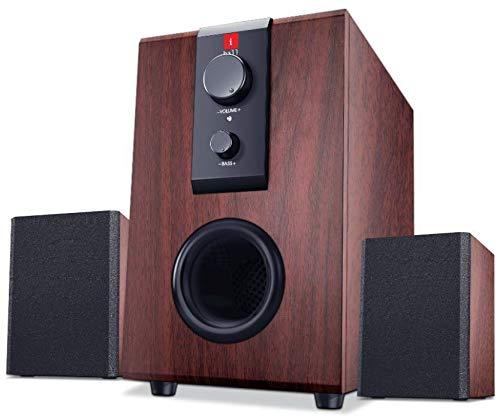 iBall Raaga 2.1 Q9 Full Wood Speakers  Rosewood  PC Speakers