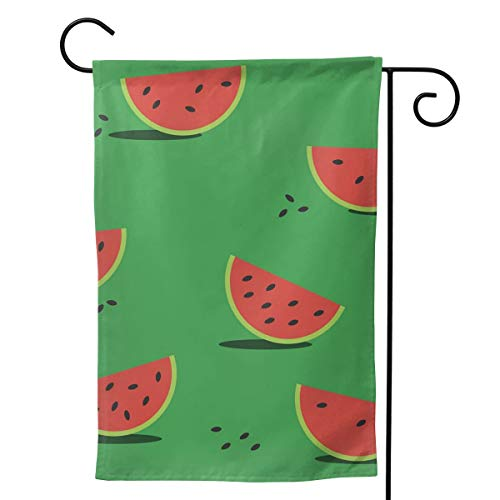 Red Watermelon Flower Floral Spring Summer Decorative Seasonal Garden Flag for Outside 12.5x18 Inch Print Double Sided