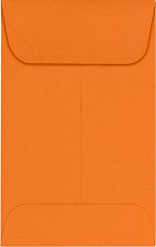 #1 Coin Envelopes (2 1/4 x 3 1/2) – Mandarin (250 Qty.) | Perfect for the HOLIDAYS, Weddings, Parties & Place Cards | Fits Small Parts, Stamps, Jewelry, Seeds | LUX-1CO-11-250