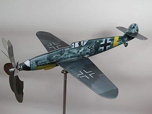 - maxflite.de Messerschmitt Bf Me 109 Airplane Wind Wheel/Spinner; Propeller Turns When Wind; Stainless Steel; gardendecoration