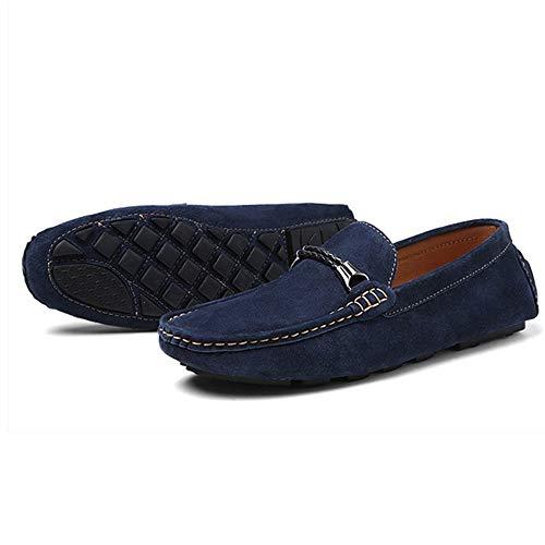Hombre Negro Conducción Cordones Cómodos De Mocasín Zapatos Clásico Mocasines Para Gamuza Cuero Sin Zapatillas qZ8qOwXU