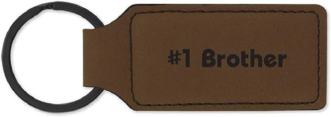 Amazon.com: Llavero de cuero sintético grabado con láser ...
