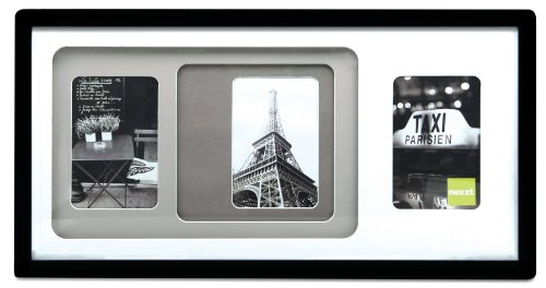 ollage Frame, 10 by 20 Inch, Matted for 3- 4 by 6 Inch Photos, Black Frame with Neutral Color Mats ()