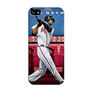 LarryToliver The Most Fashionable Customizable Baseball Atlanta Braves Team Logo Case Fit For iphone 5/5s Durable Cover