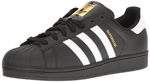 adidas Originals Men's Superstar Foundation Casual Sneaker, Black/White/Black, 10 D(M) US (Adidas Star)