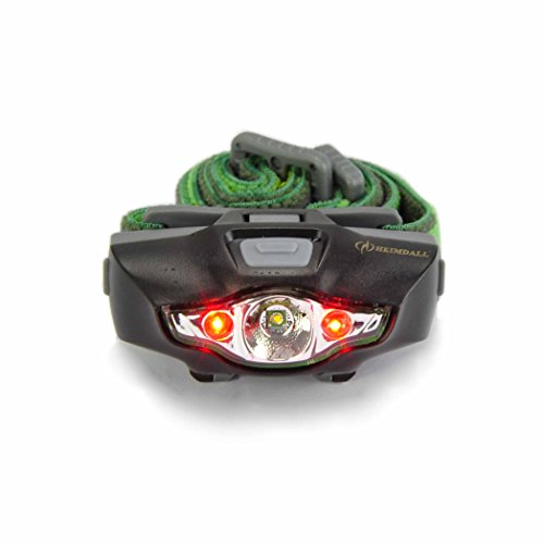 HEIMDALL Led Headlamp Flashlight with Red Light, Only 1.3 oz, 115 lumens, 1 AA Battery(included), 4 White & 2 Red Light Modes, IPX6 Water Resistant Headlight for Running, Hiking,Camping & Kids