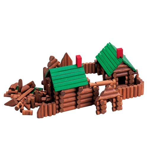 Wooden Pioneer Building Logs - 1