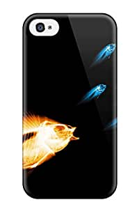 New Style Yusuan Laguardia Hard Case Cover For Iphone 4/4s- Fish X Ray Water Acvatic Ocean Animal Fish