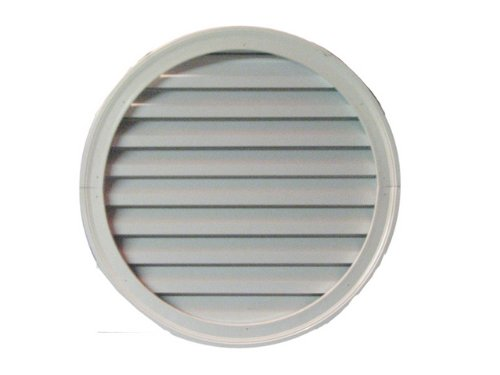 Round vent with Brick Mould, PVC, 36''