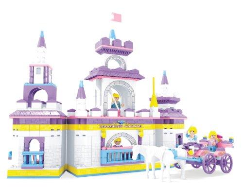 2 Item Bundle BRICTEK Fairyland Diamond Castle 614 Pcs Building Blocks Compatible With Legos BT 24806 Coloring Activity Book
