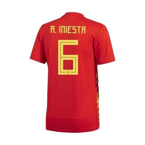 ProPrint Andrés Iniesta en FC oficial un jersey España Casa 2018/Copa del Mundo Badge/Patch incluido, S: Amazon.es: Deportes y aire libre