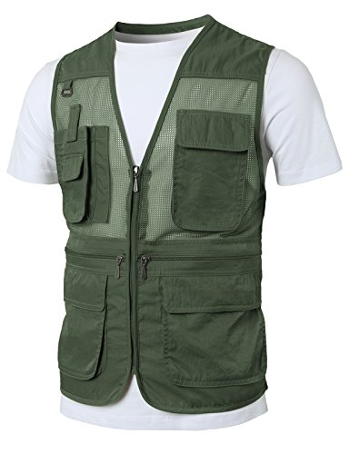 Review H2H Mens Casual Work Utility Hunting Travels Sports Vest With Multiple Pockets Khaki US XL/Asia 2XL (KMOV0141)