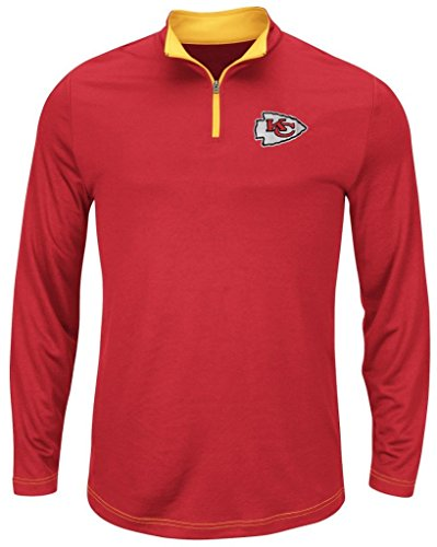 Base Therma Sweatshirt (Majestic Kansas City Chiefs NFL Mens Therma Base 1/4 Zip Fleece Red Big & Tall Sizes (3XL))