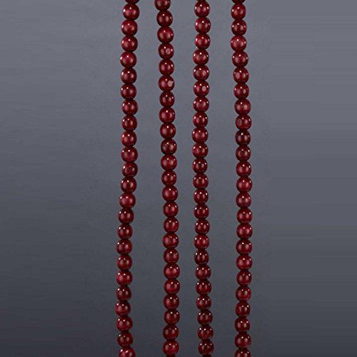 Kurt Adler 9' Burgundy Wood Beaded Christmas Garland - Unlit (Wood Bead Metallic)