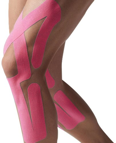 Spidertech Full Knee Pre Cut Kinesiology Tape(Pink)