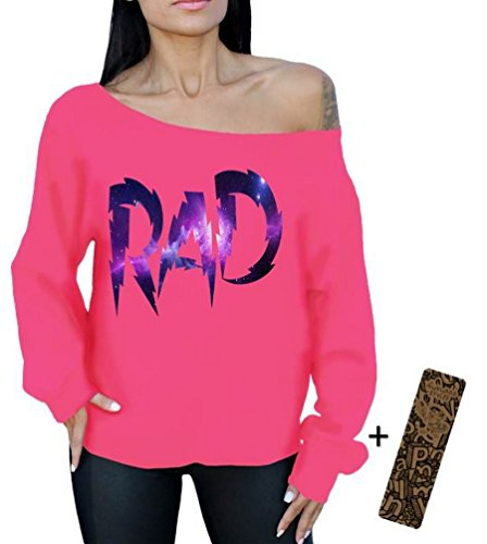 Rad Off the Shoulder, Oversized Slouchy Sweatshirt. 5 Colors - S to XL