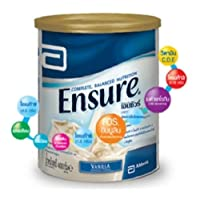 Ensure #1 Doctor Recommended Brand,Complete Balanced Vanilla Flavor Nutrition Size ;14.11 Oz/400g ,Meal Replacement vitamins minerals omega energy,the ratio of protein, fat and carbohydrates 15.0%: 29.7%: 55.3%