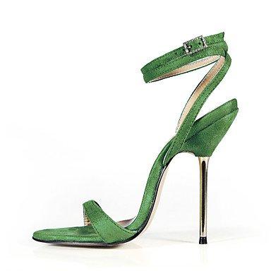 LFNLYX Las mujeres sandalias de verano al tobillo partido y vestido de noche de terciopelo Stiletto talón Casual Negro Azul Verde morado oscuro gris oscuro Blue