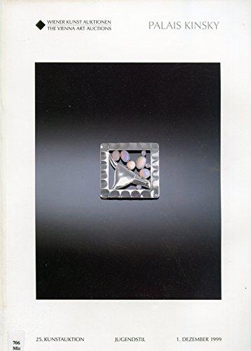 Wiener Kunst Auktionen (The Vienna Art Auctions), Palais Kinsky, Kunstauktion (Art Auction) Jugendstil (Art Nouveau), Dezember (December) 1999