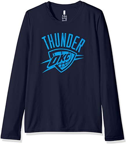 A Kids & Youth Boys Oklahoma City Thunder Defensive Long Sleeve Dri Tek Tee, Navy, Youth Large(14-16) ()