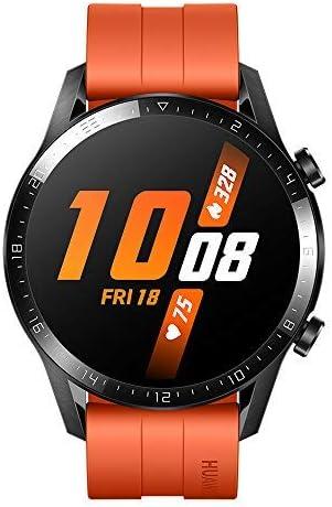 HUAWEI Watch GT 2 Smartwatch 46 mm, Durata Batteria fino a 2 Settimane, GPS, 15 Modalità di Allenamento, Display del Quadrante in Vetro 3D, Chiamata Tramite Bluetooth, Arancione (Sunset Orange)