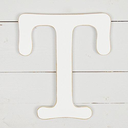 UNFINISHEDWOODCO 11.5'' Typewriter Wall Decor Letter T- White