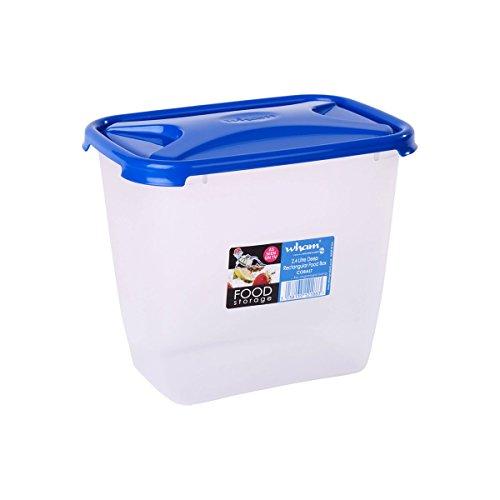 Wham Cuisine Deep Rectangular Food Storage Plastic Container, 2.4 Litre, Blue