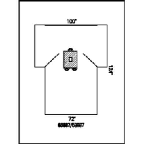 Halyard Health 59887 Pediatric Laparotomy Drapes, Non-Sterile, 100'' x 74'' x 124'' Dimension (Pack of 16)