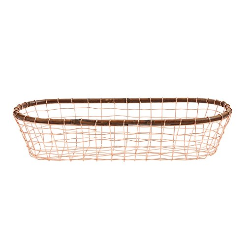 (Mud Pie 4604031 Bungalow Oval Copper Wire Basket Set of 2)